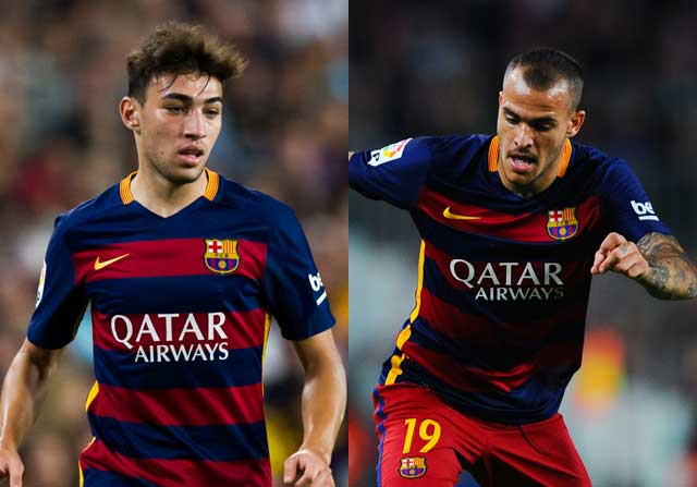 Munir y Sandro jugando con el FC Barcelona