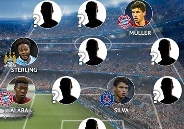Once ideal de la fase de grupos de la Champions League 15-16