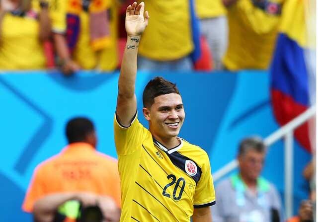 Juan Fernando Quintero jugando con Colombia