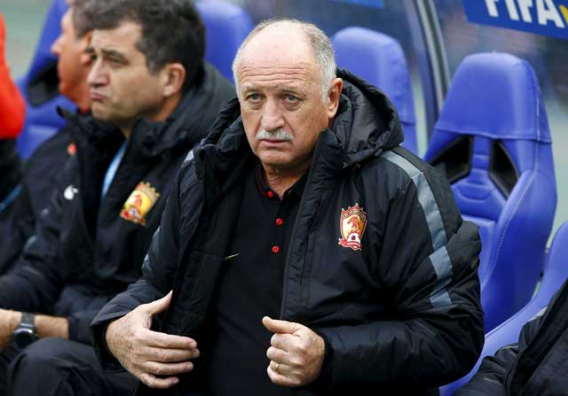 Luiz Felipe Scolari, técnico de Guangzhou Evergrande