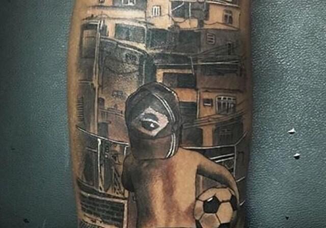 Neymar tatoo tatuaje