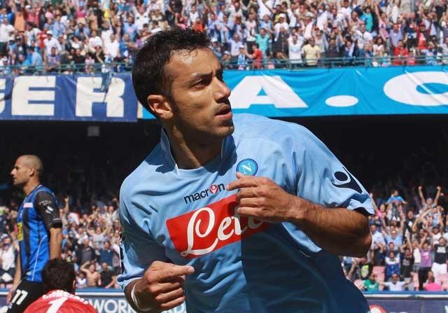 Fabio Quagliarella, en un partido con el Nápoles