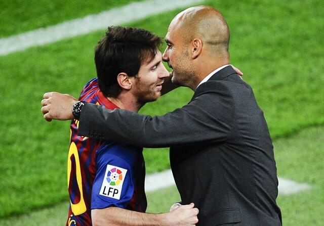 Guadiola Messi Manchester United Adidas
