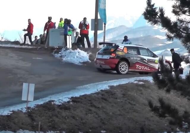 Hubert Ptaszek se equiivoca en el Rally montecarlo