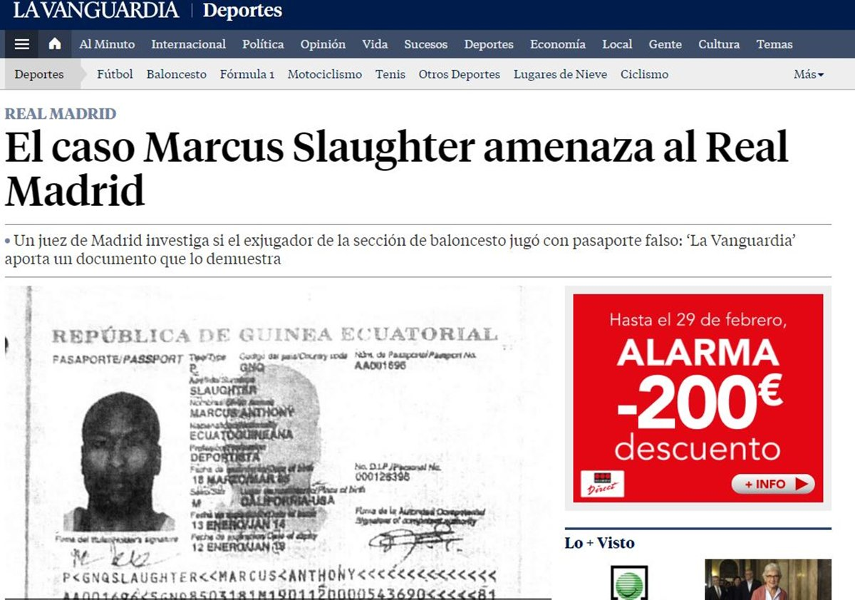 Marcus Slaughter pasaporte