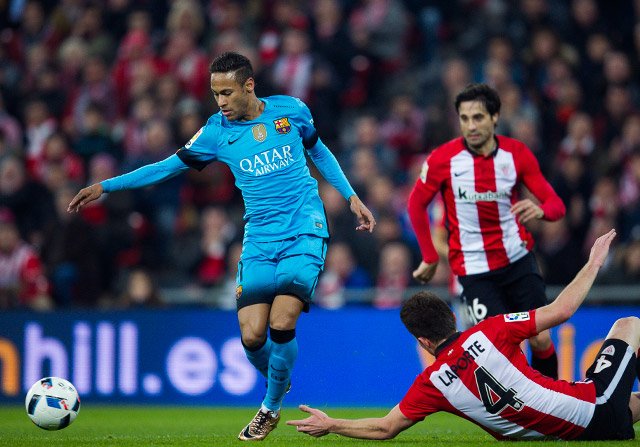 Neymar dice del árbitro de Bilbao que estuvo normal