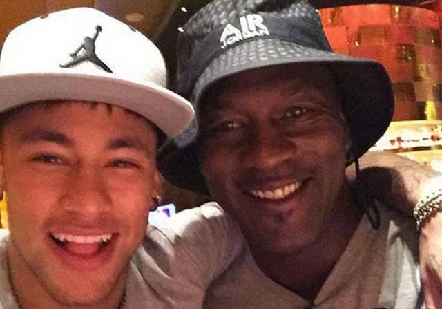 Neymar Jr. y Michael Jordan