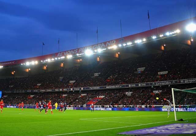 El Parque de los Príncipes, durante un partido del PSG
