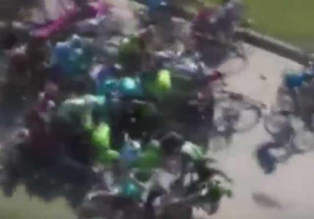Aparatosa caída en el Tour de San Luis