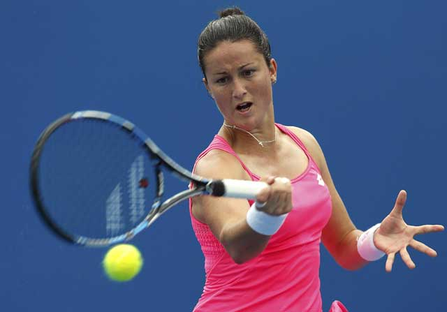 La tenista española jugó los dobles mixtos con el también español David Marrero