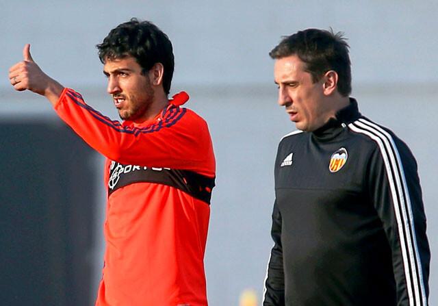 Dani Parejo y Gary Neville