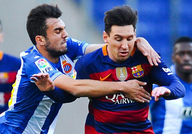 Leo Messi, en el Espanyol - Barcelona