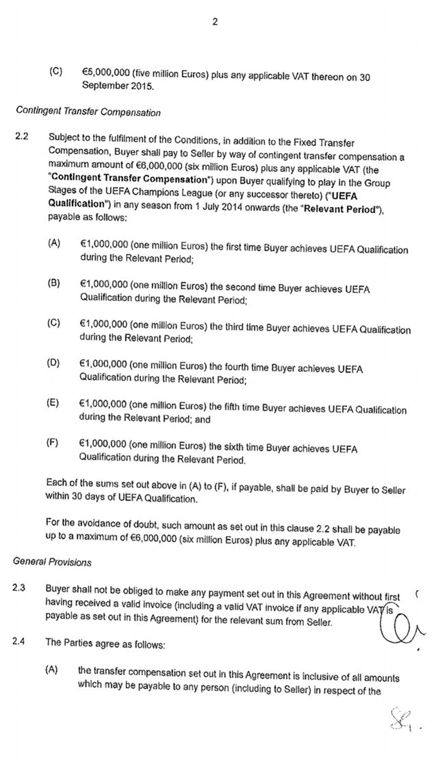 football contract template - revelan el contrato de traspaso de zil del madrid al arsenal