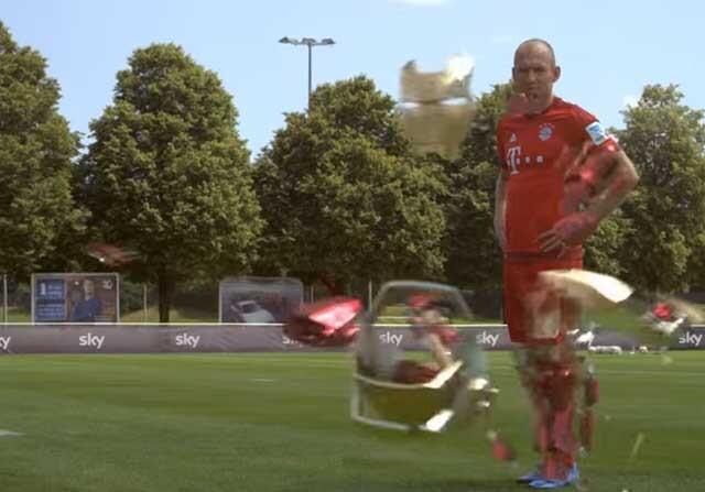 Arjen Robben se transforma