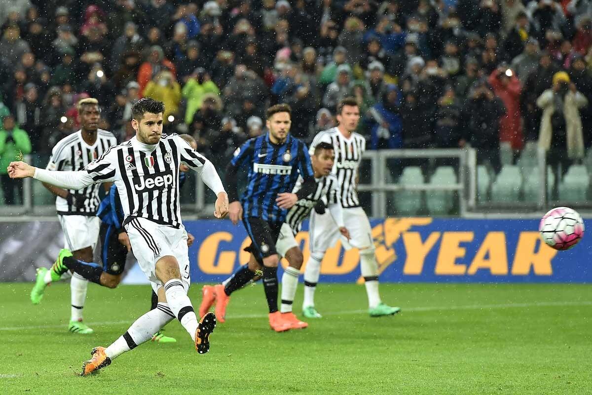 Alvaro Morata, en el Juventus vs Inter