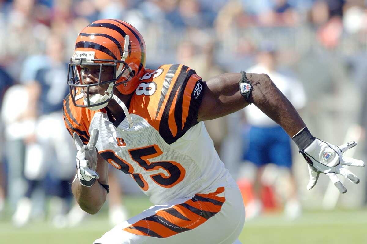 Chad Johnson, durante un partido con los Cincinnati Bengals
