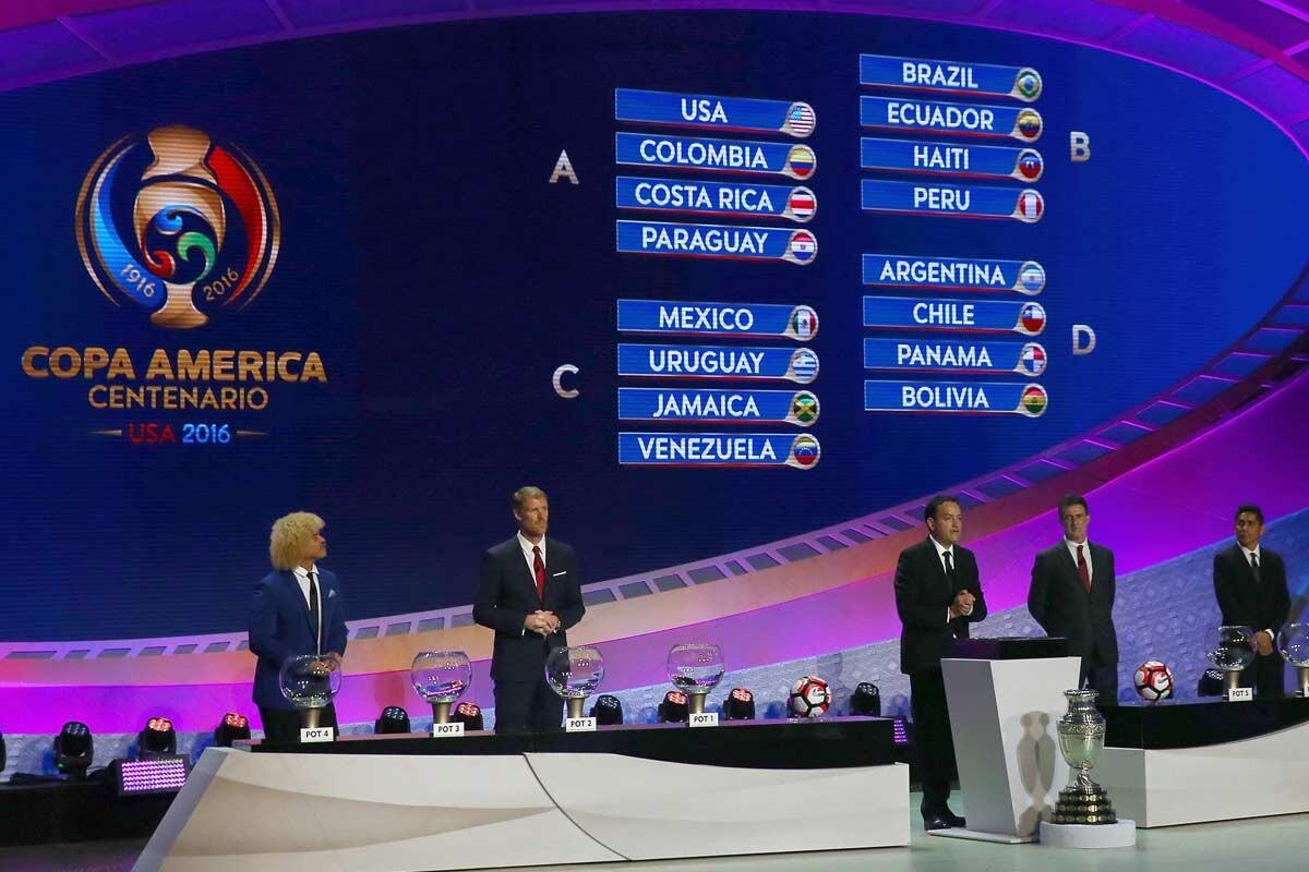 Sorteo de la Copa América Centenario