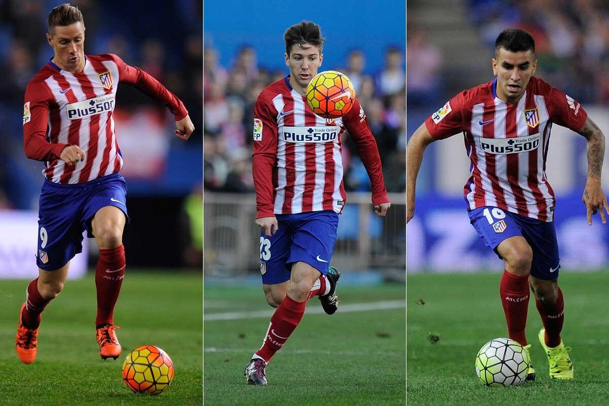 Fernando Torres, Luciano Vietto y Ángel Correa