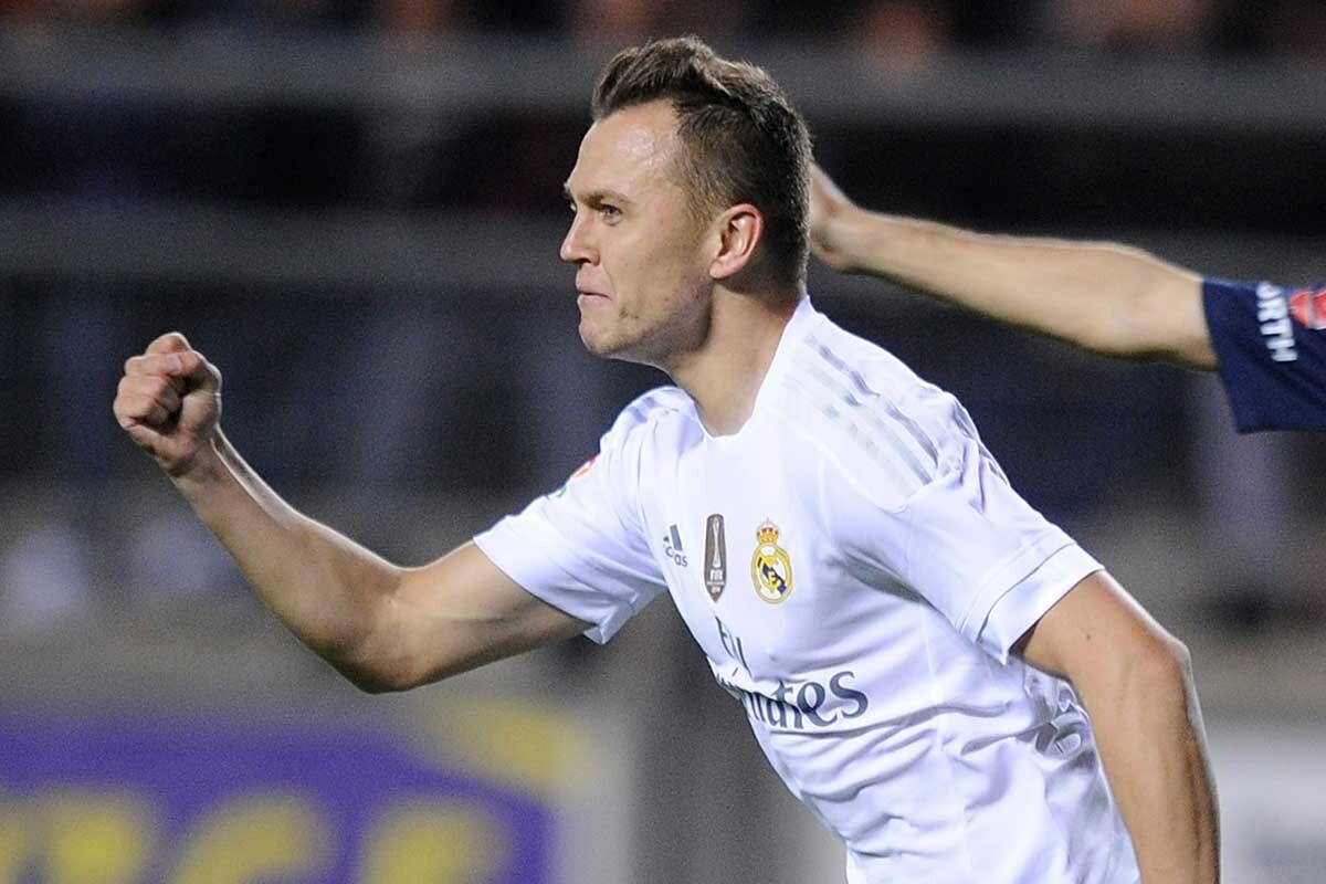 Denis Cheryshev celebra su gol al Cádiz en Copa del Rey