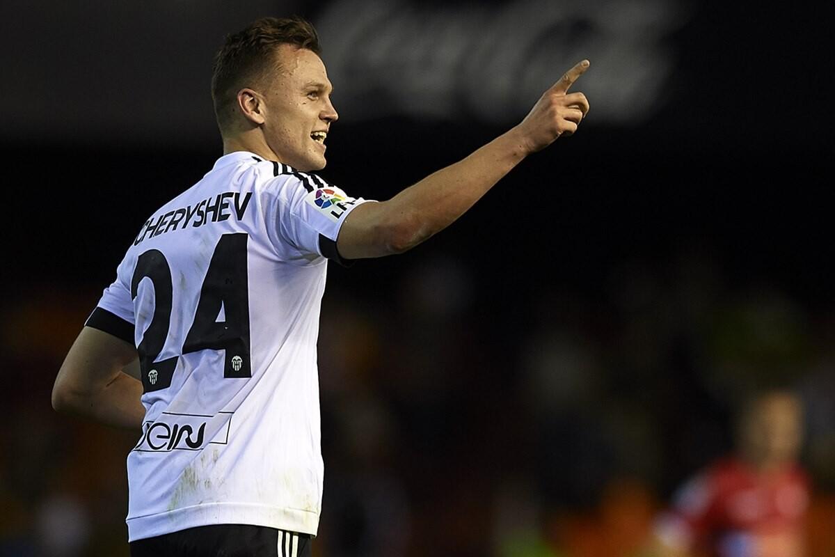 Denis Cheryshev marca su primer gol con el valencia