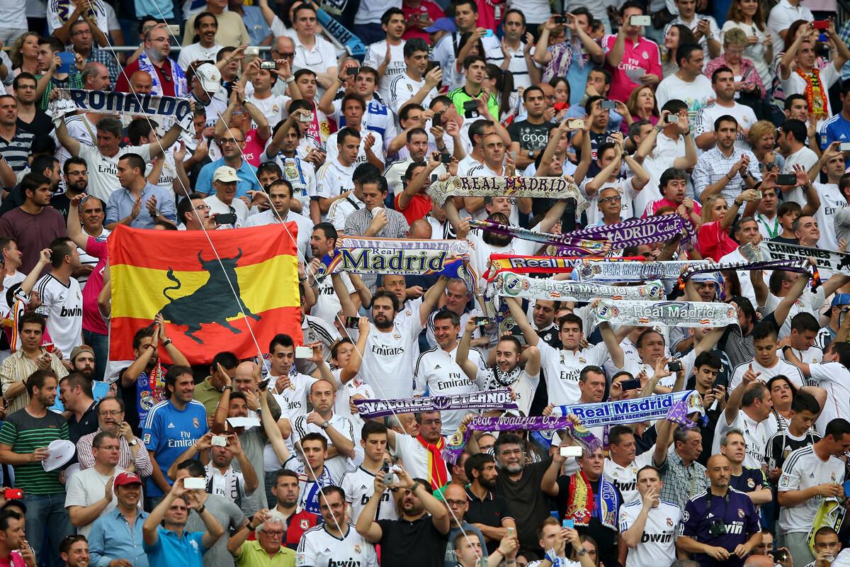 Fans del Santiago Bernabeu