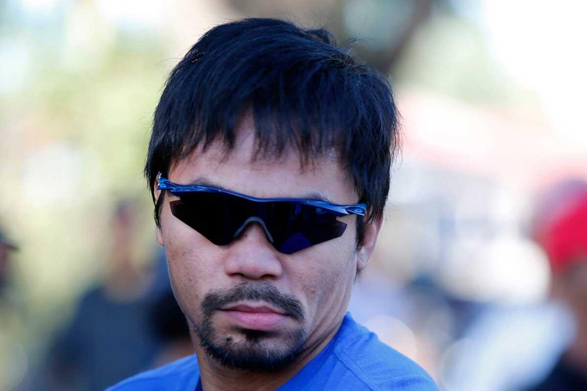Manny Pacquiao, durante un entrenamiento