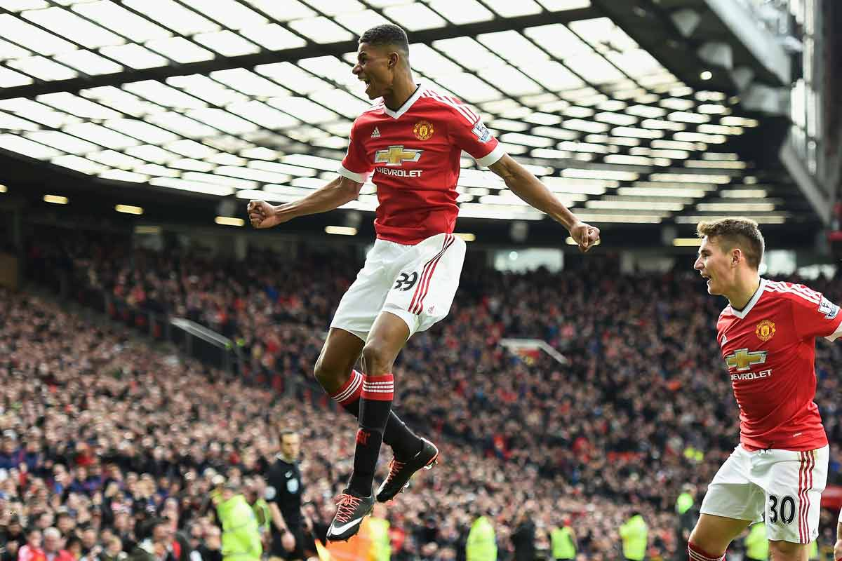Marcus Rashford, del Manchester United