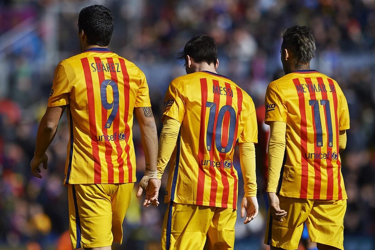Messi Luis Suarez y Neymar, la MSN, el tridente que mas minutos suma de Europa