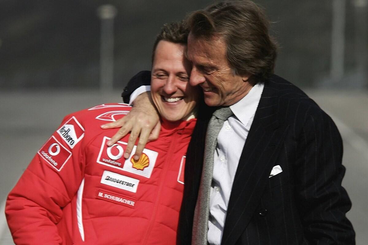 Michael Schumacher y Luca Montezemolo