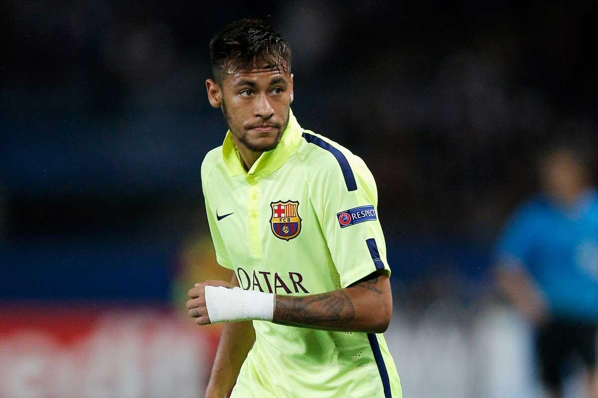 Neymar, durante un partido de Champions League con el Barcelona