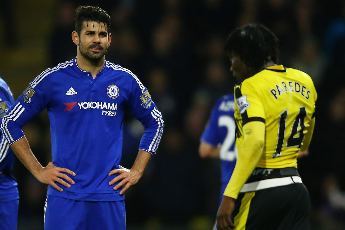 Incidente entre Paredes y Costa en el Watford Chelsea