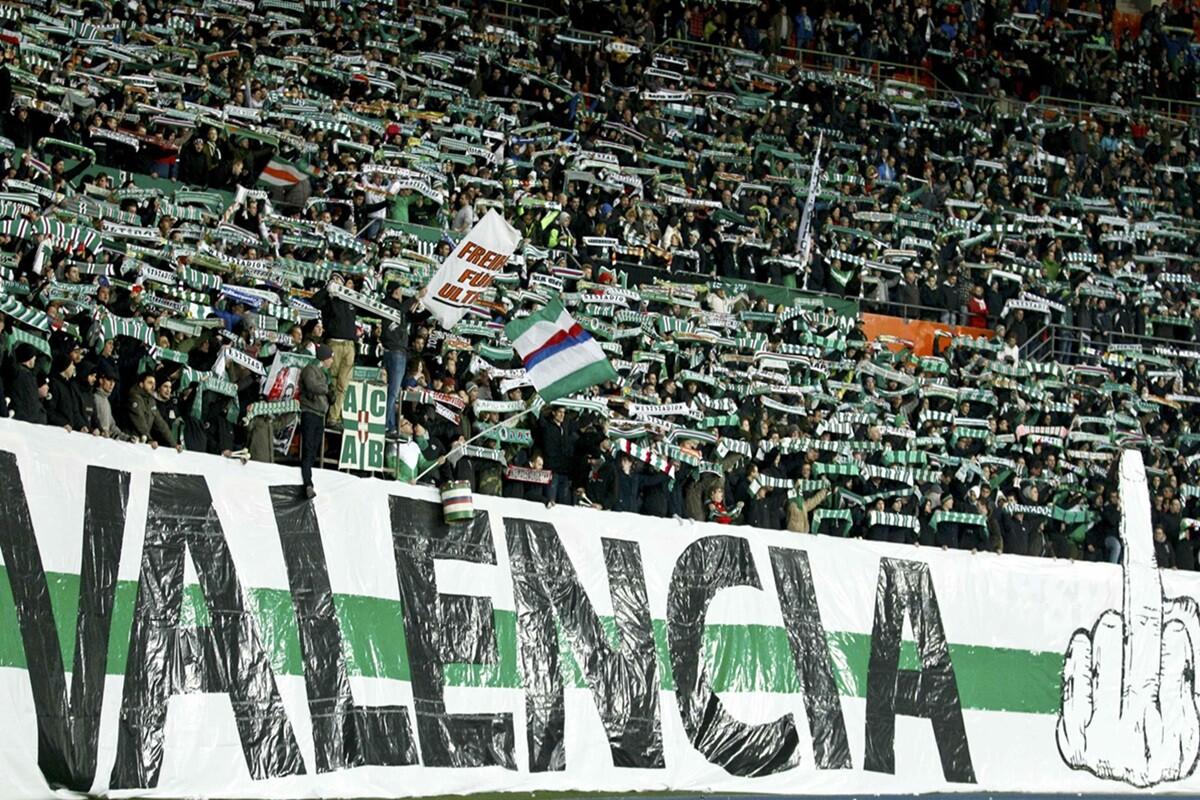 Pancartas en Viena contra el Valencia denunciadas a la UEFA