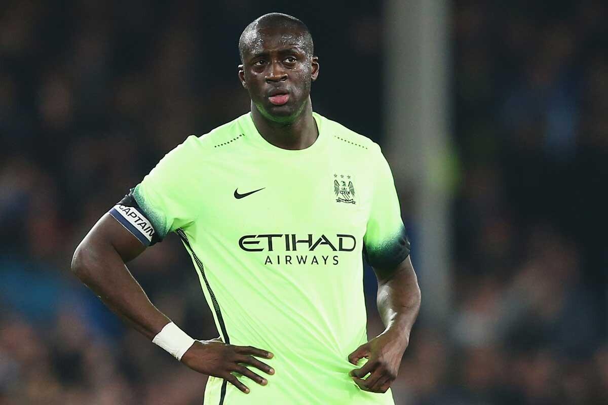 Yaya Touré, durante un partido del Manchester City