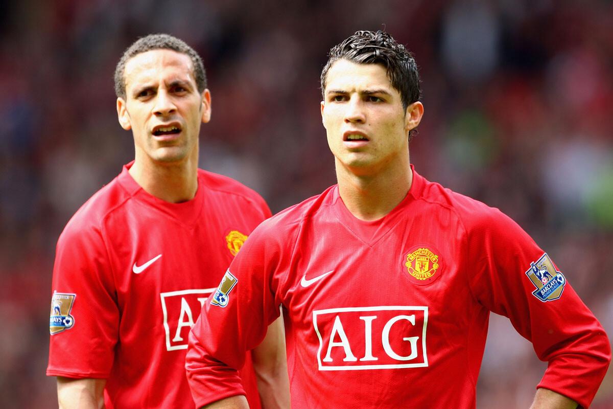 Ferdinand y Cristiano Ronaldo