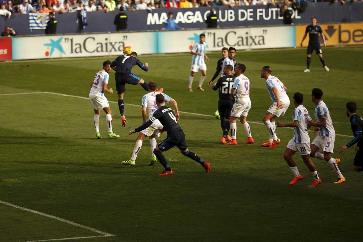 Imagen del encuentro Málaga-Real Madrid