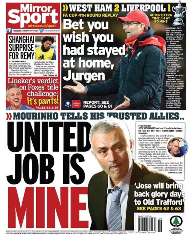 José Mourinho entrenará al Manchester United