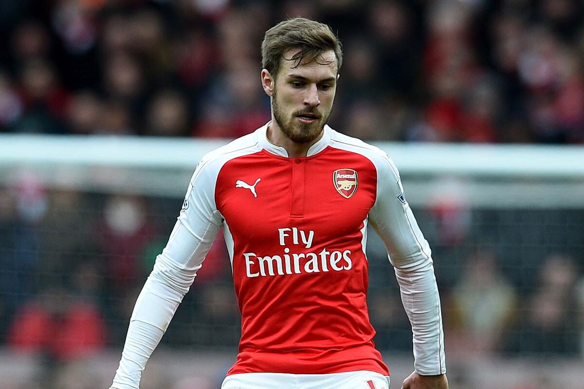 Aaron Ramsey, entrenando con el Arsenal