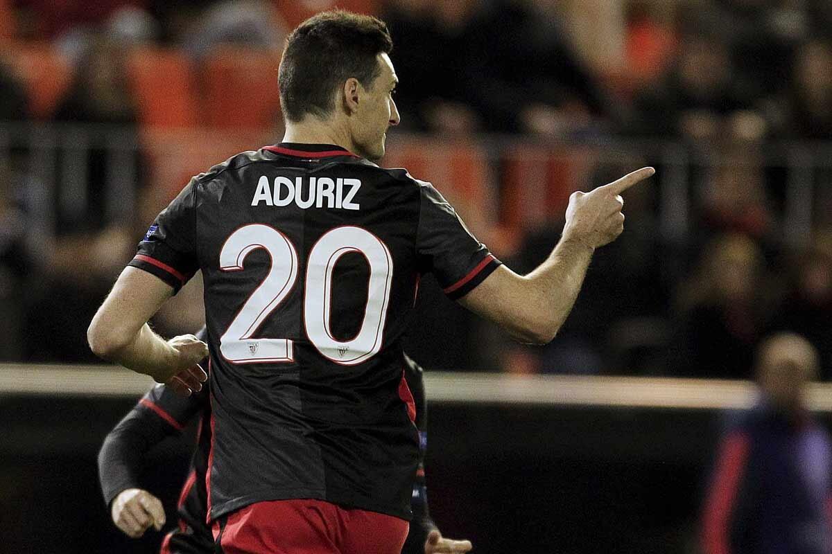 Aritz Aduriz, del Athletic