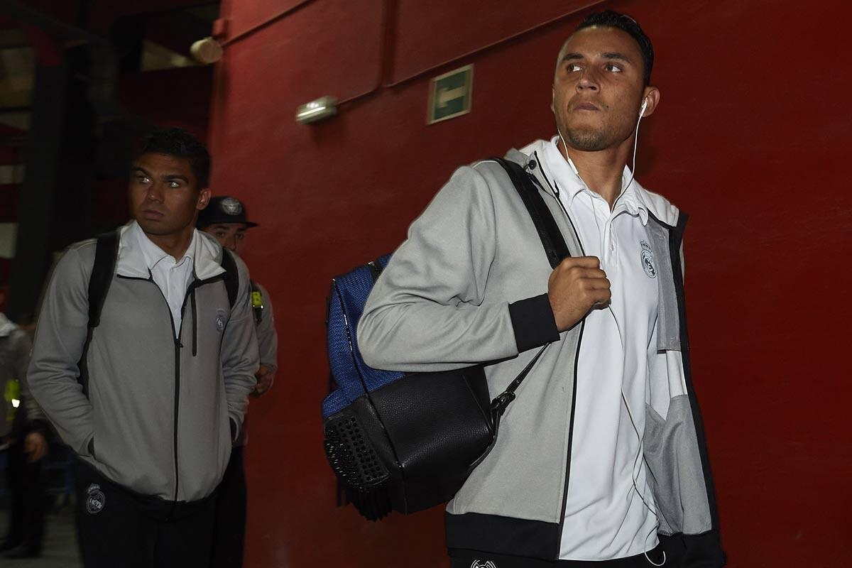 Casmiro y Keylor Navas, del Real Madrid