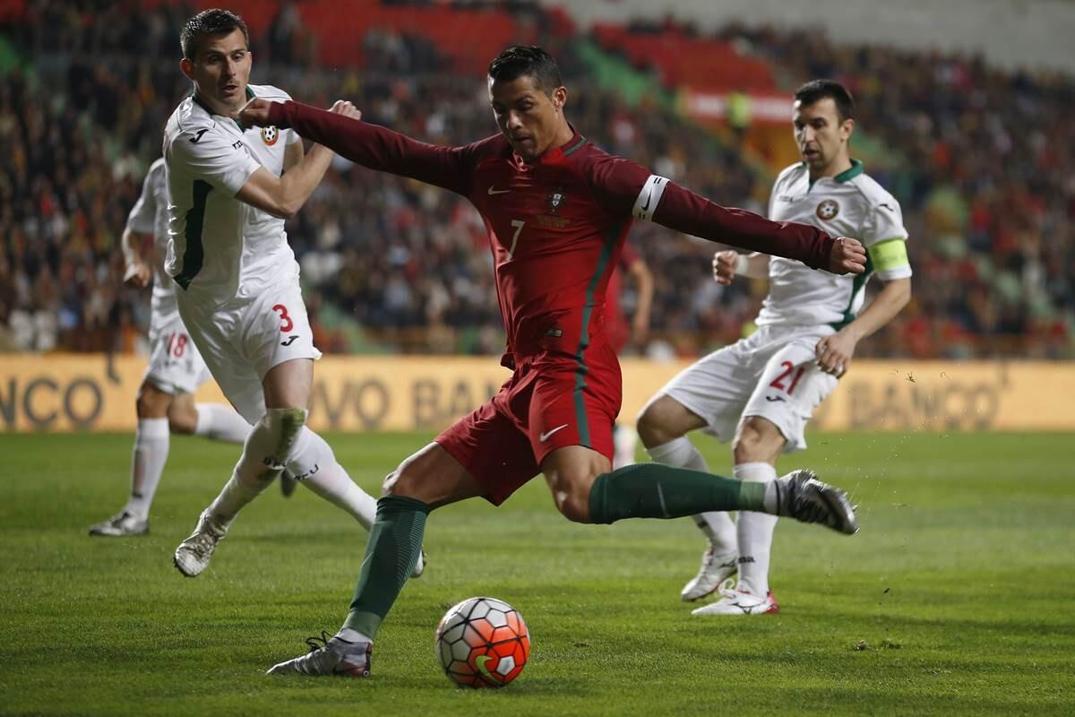 Cristiano Ronaldo, en el Bulgaria Portugal