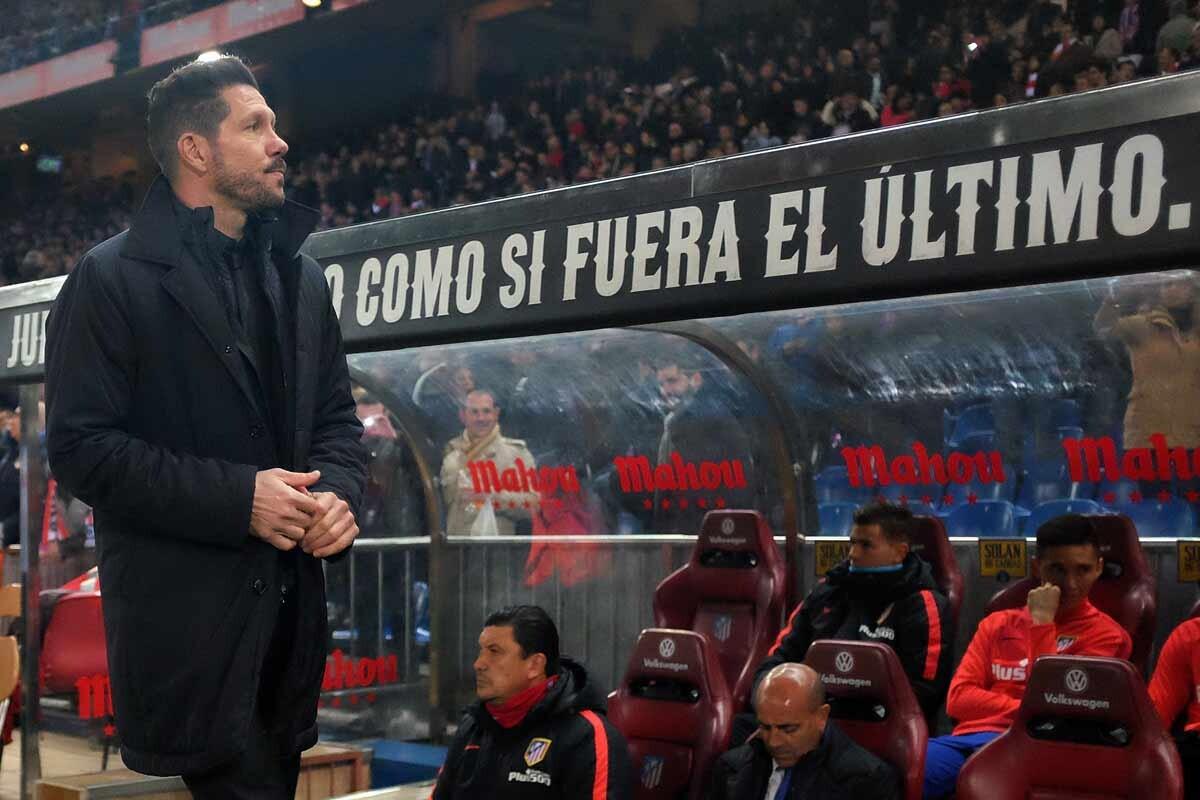 Diego Pablo Simeone, entrenador del Atlético de Madrid