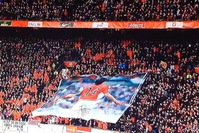 Homenaje Cruyff Holanda Francia