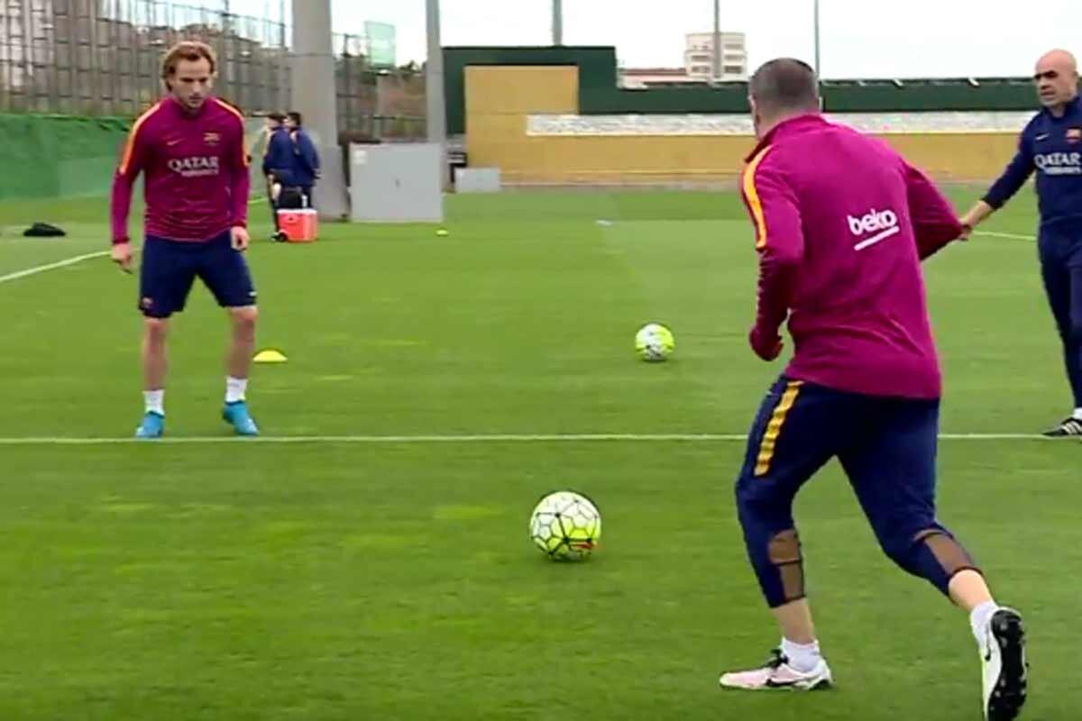 Los futbolistas del Barcelona demostraron su habilidad