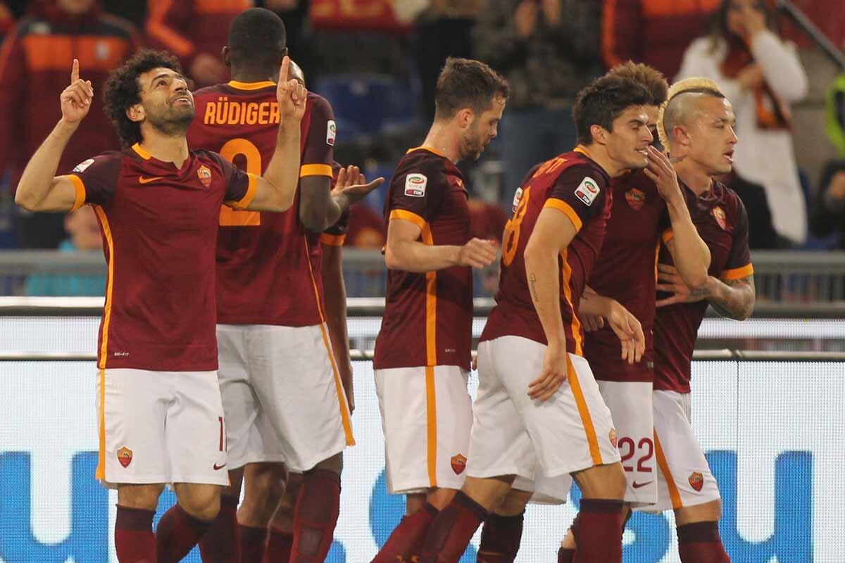 Mohamed Salah, con la Roma