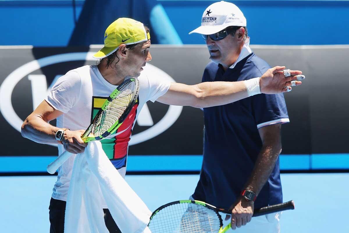 Rafa Nadal y su tío y entrenador, Toni Nadal