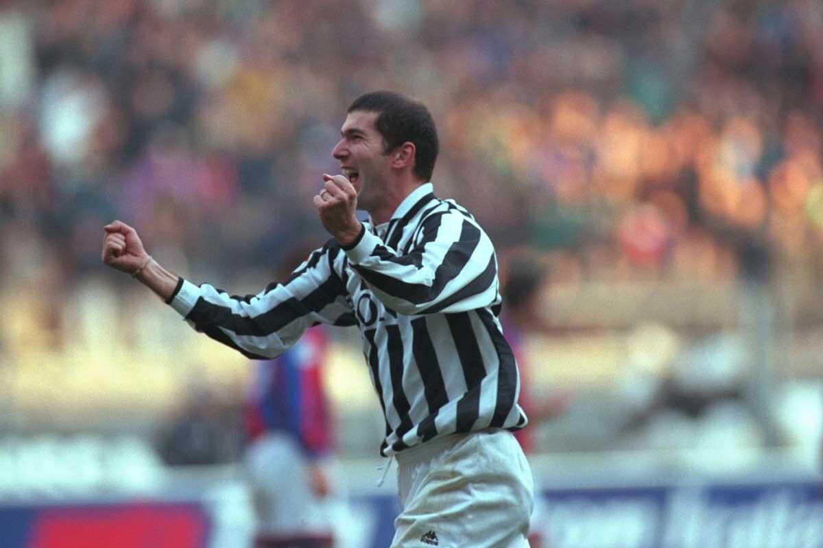 Zinedine Zidane, durante su etapa como jugador de la Juventus