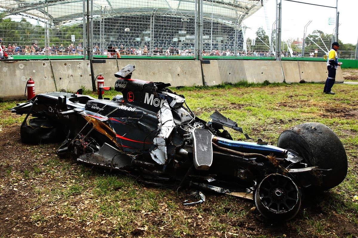Accidente de Alonso en Australia