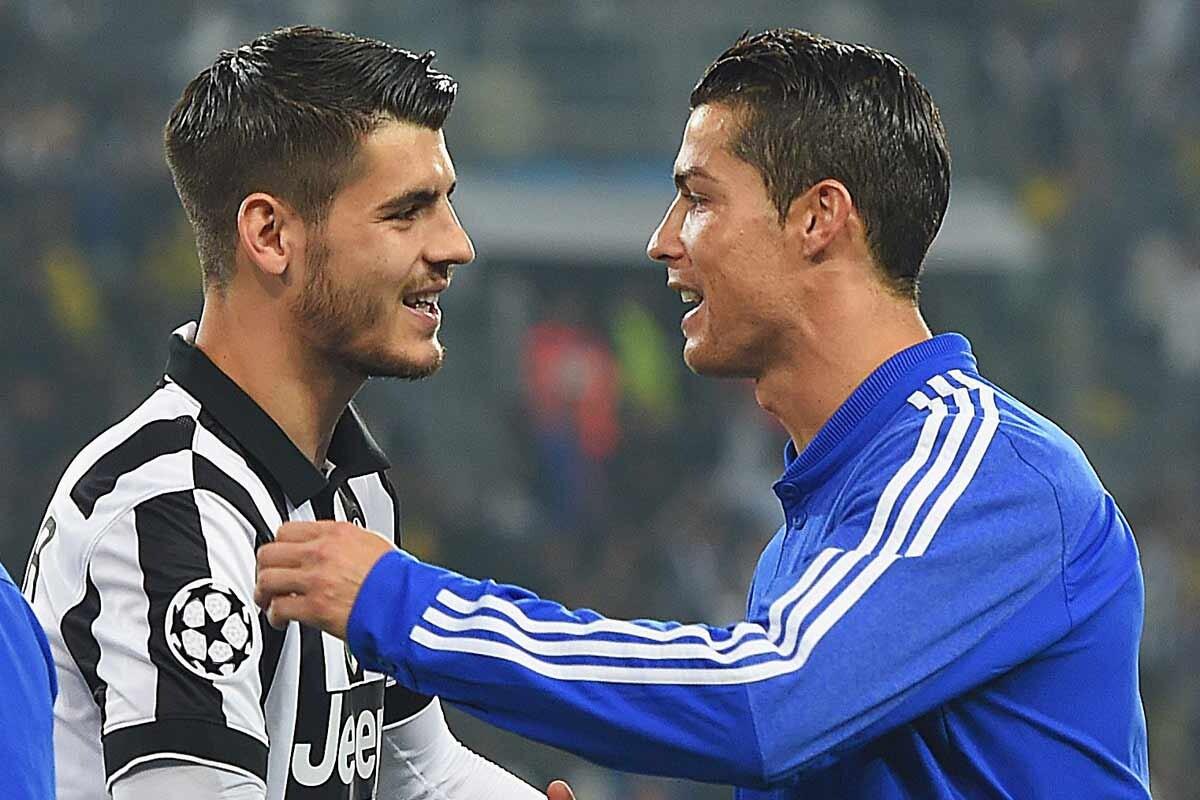 Morata y Cristiano Ronaldo