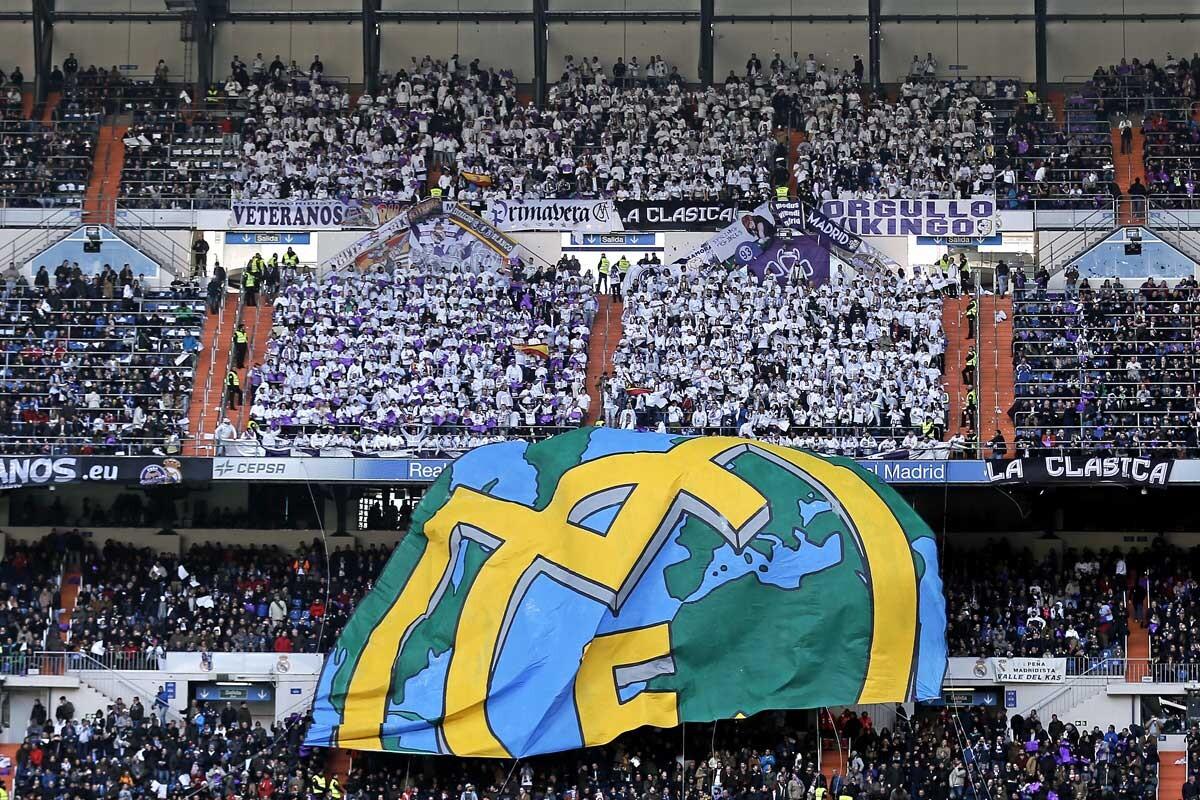 La Grada Fans se ubica en el Fondo Sur del Bernabéu