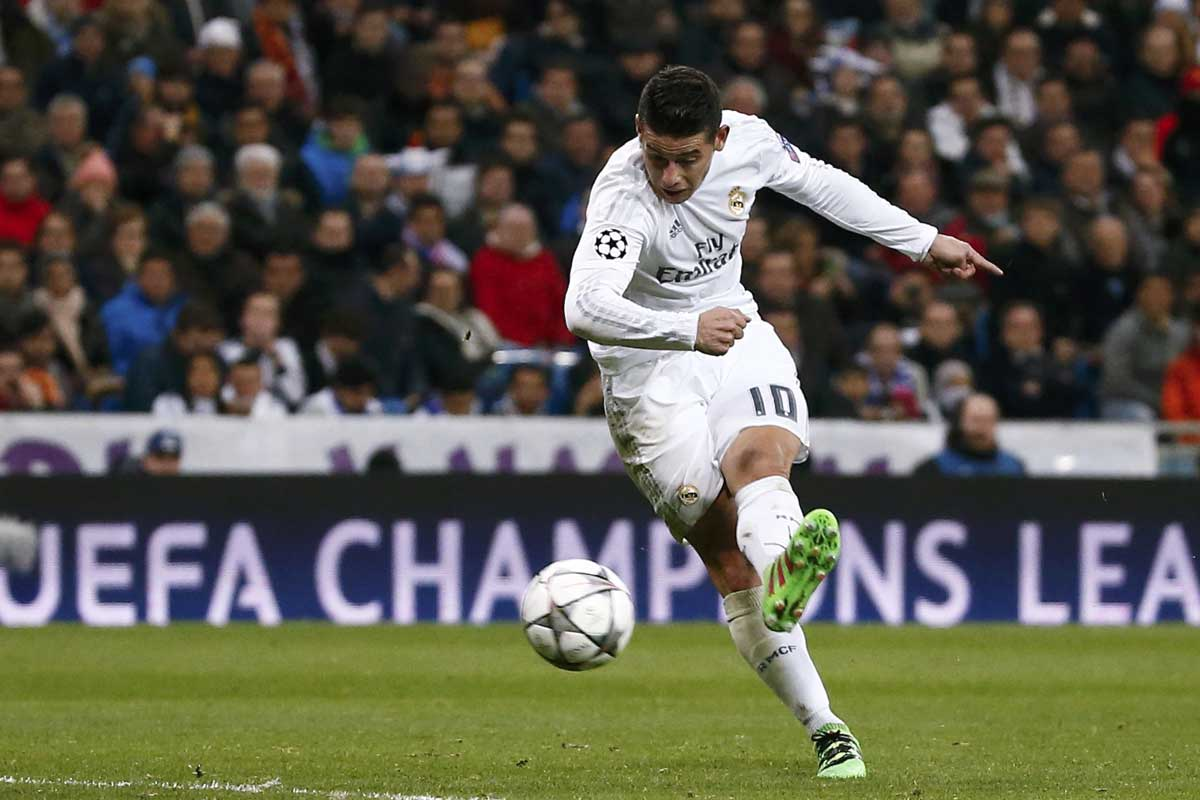 James es jugador del Real Madrid